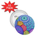 India Ornaments Mandala Balls Multicolored 1.75  Buttons (10 pack) Front