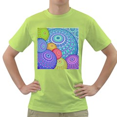 India Ornaments Mandala Balls Multicolored Green T Shirt