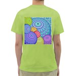 India Ornaments Mandala Balls Multicolored Green T-Shirt Back