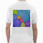 India Ornaments Mandala Balls Multicolored Golf Shirts Back