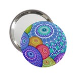 India Ornaments Mandala Balls Multicolored 2.25  Handbag Mirrors Front