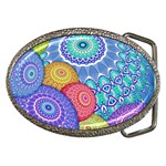 India Ornaments Mandala Balls Multicolored Belt Buckles Front