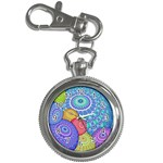 India Ornaments Mandala Balls Multicolored Key Chain Watches Front