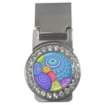 India Ornaments Mandala Balls Multicolored Money Clips (CZ)  Front