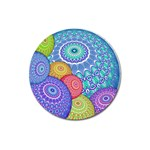 India Ornaments Mandala Balls Multicolored Magnet 3  (Round) Front