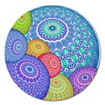India Ornaments Mandala Balls Multicolored Magnet 5  (Round) Front