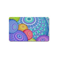 India Ornaments Mandala Balls Multicolored Magnet (Name Card)
