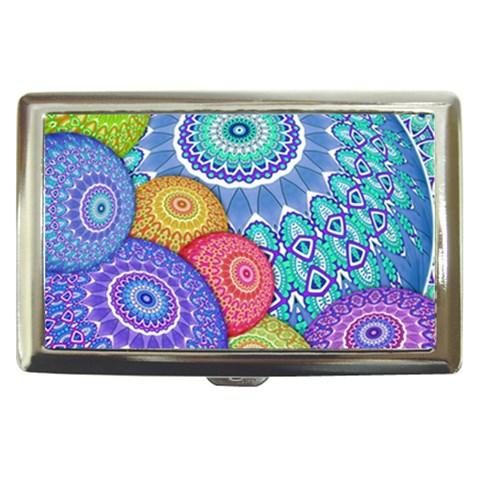 India Ornaments Mandala Balls Multicolored Cigarette Money Cases