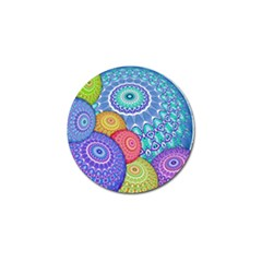 India Ornaments Mandala Balls Multicolored Golf Ball Marker (4 Pack)