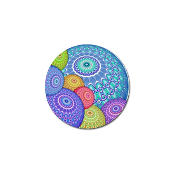 India Ornaments Mandala Balls Multicolored Golf Ball Marker (10 pack)