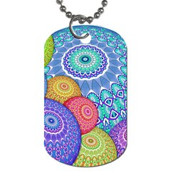 India Ornaments Mandala Balls Multicolored Dog Tag (two Sides)
