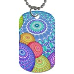 India Ornaments Mandala Balls Multicolored Dog Tag (Two Sides) Back