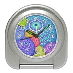 India Ornaments Mandala Balls Multicolored Travel Alarm Clocks Front