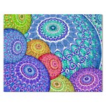 India Ornaments Mandala Balls Multicolored Rectangular Jigsaw Puzzl Front