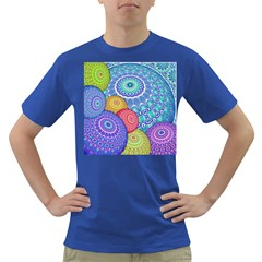 India Ornaments Mandala Balls Multicolored Dark T Shirt