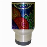 India Ornaments Mandala Balls Multicolored Travel Mug (Silver Gray) Center