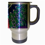 India Ornaments Mandala Balls Multicolored Travel Mug (Silver Gray) Right