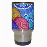 India Ornaments Mandala Balls Multicolored Travel Mugs (White) Center