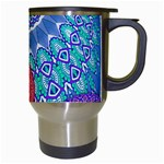 India Ornaments Mandala Balls Multicolored Travel Mugs (White) Right