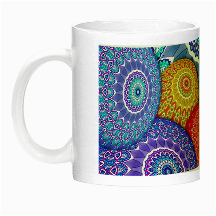 India Ornaments Mandala Balls Multicolored Night Luminous Mugs