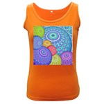 India Ornaments Mandala Balls Multicolored Women s Dark Tank Top Front