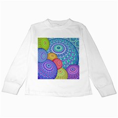 India Ornaments Mandala Balls Multicolored Kids Long Sleeve T-Shirts