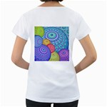 India Ornaments Mandala Balls Multicolored Women s Loose-Fit T-Shirt (White) Back