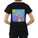 India Ornaments Mandala Balls Multicolored Women s Loose-Fit T-Shirt (Black) Back