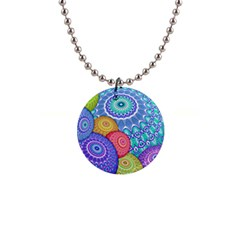 India Ornaments Mandala Balls Multicolored Button Necklaces