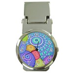 India Ornaments Mandala Balls Multicolored Money Clip Watches Front