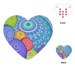 India Ornaments Mandala Balls Multicolored Playing Cards (Heart)  Front