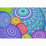 India Ornaments Mandala Balls Multicolored Collage Prints 18 x12 Print - 2