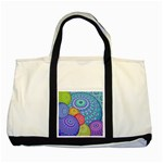 India Ornaments Mandala Balls Multicolored Two Tone Tote Bag Front