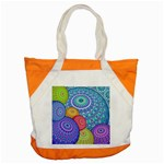 India Ornaments Mandala Balls Multicolored Accent Tote Bag Front