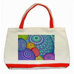 India Ornaments Mandala Balls Multicolored Classic Tote Bag (red)
