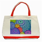 India Ornaments Mandala Balls Multicolored Classic Tote Bag (Red) Front