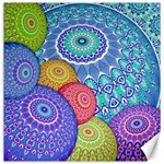 India Ornaments Mandala Balls Multicolored Canvas 12  x 12   12 x12 Canvas - 1