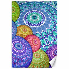 India Ornaments Mandala Balls Multicolored Canvas 12  x 18