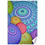 India Ornaments Mandala Balls Multicolored Canvas 12  x 18   18 x12 Canvas - 1