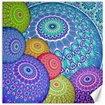 India Ornaments Mandala Balls Multicolored Canvas 20  x 20   20 x20 Canvas - 1