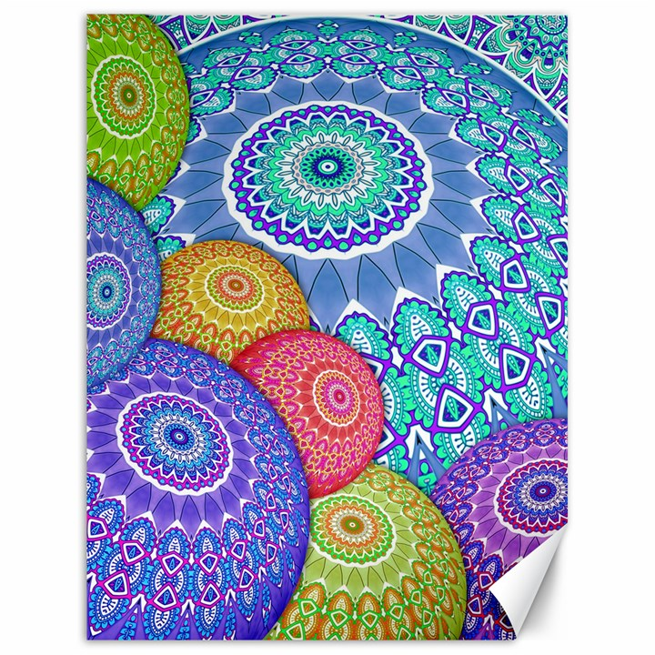 India Ornaments Mandala Balls Multicolored Canvas 18  x 24