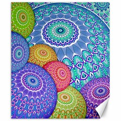 India Ornaments Mandala Balls Multicolored Canvas 20  x 24