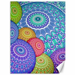 India Ornaments Mandala Balls Multicolored Canvas 36  X 48