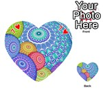 India Ornaments Mandala Balls Multicolored Playing Cards 54 (Heart)  Front - Heart7