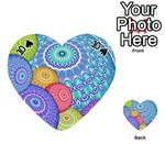 India Ornaments Mandala Balls Multicolored Playing Cards 54 (Heart)  Front - Spade10