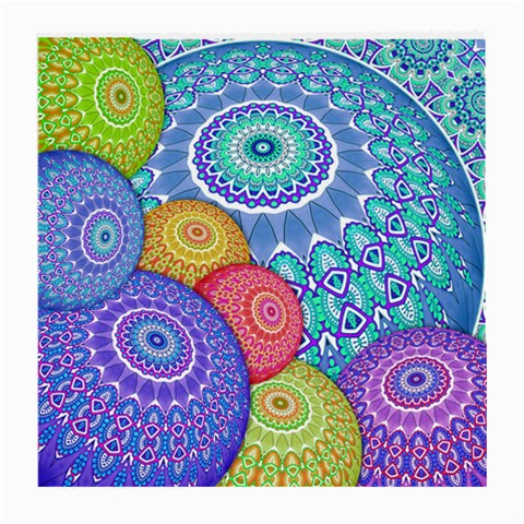 India Ornaments Mandala Balls Multicolored Medium Glasses Cloth (2-Side)