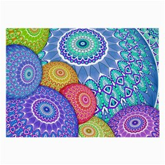 India Ornaments Mandala Balls Multicolored Large Glasses Cloth (2-Side)