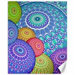 India Ornaments Mandala Balls Multicolored Canvas 11  x 14   14 x11 Canvas - 1