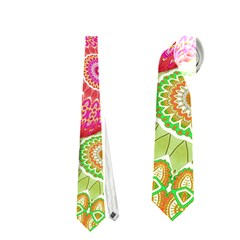 India Ornaments Mandala Balls Multicolored Neckties (One Side)