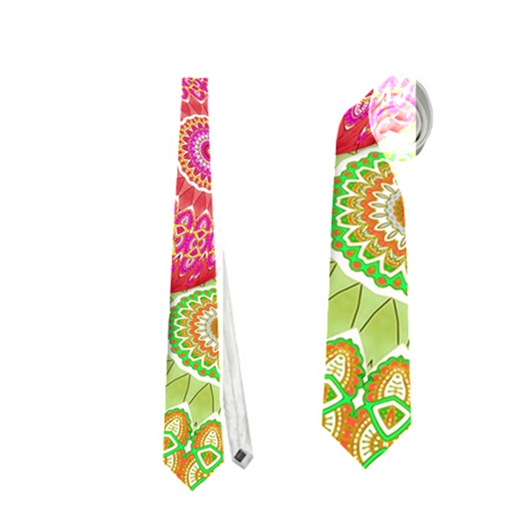 India Ornaments Mandala Balls Multicolored Neckties (Two Side)